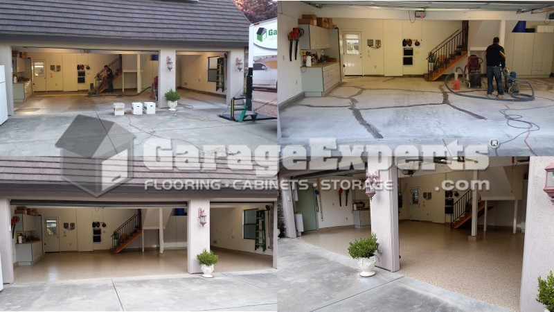 El dorado garage experts recent floor epoxy