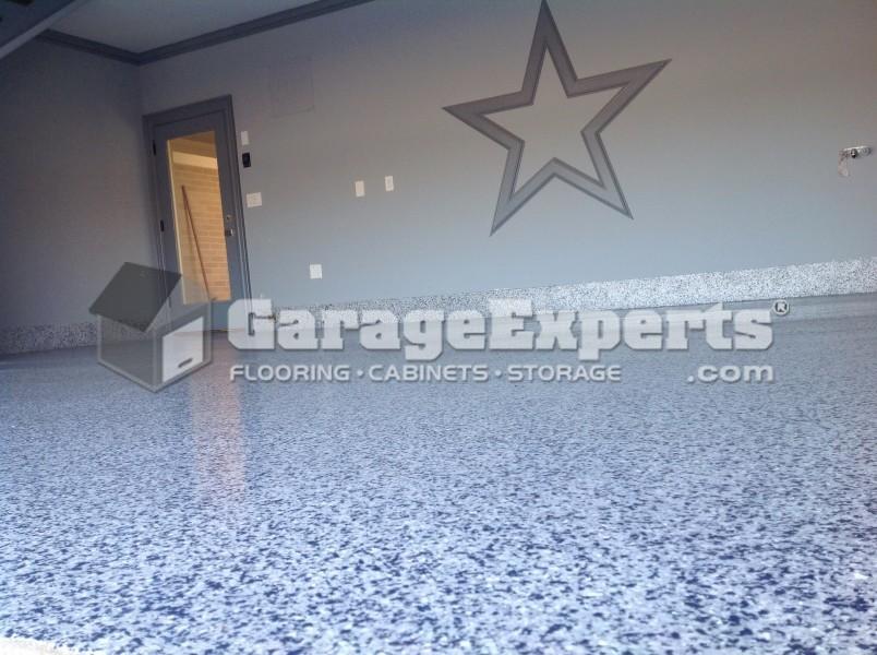 Delightful Dallas Cowboy Custom Epoxy Floor In Southlake, TX
