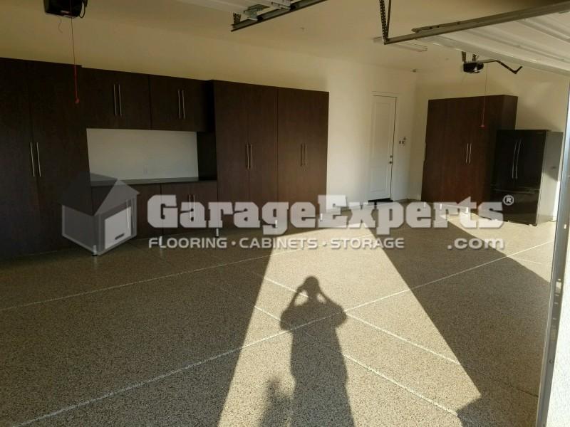 More New Garage Epoxy Floor And Garage Cabinet Jobs In El Dorado Hills