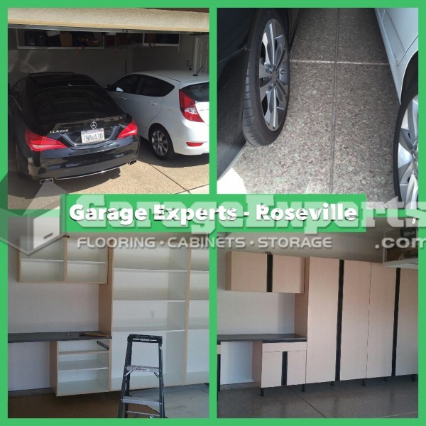 Garage, Expoxy, Flooring, And Cabinets, Roseville, CA. October 2016