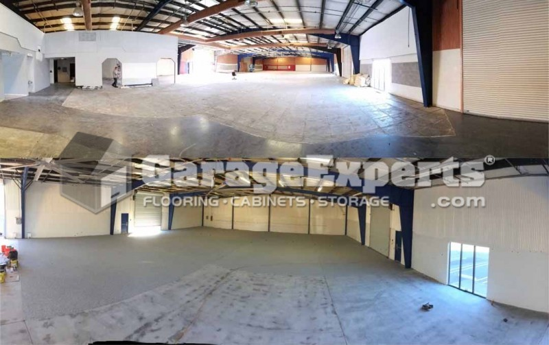 Modesto Auto Body Shop Epoxy Floor Warehouse Epoxy Floor