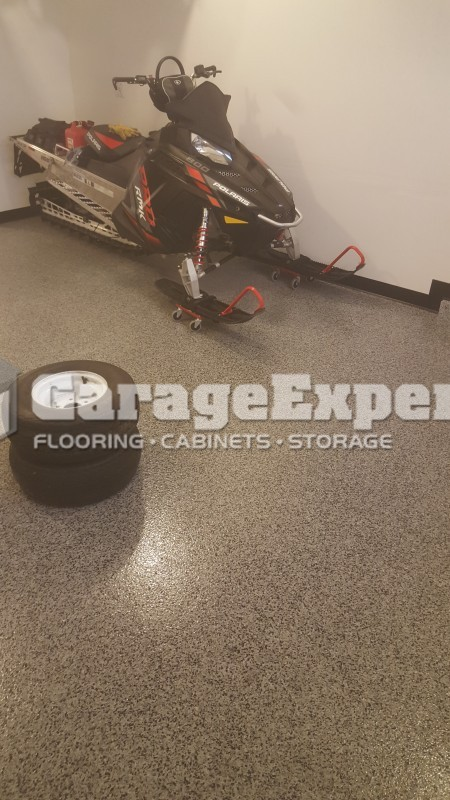 Epoxy Floors And Storage Racks For This Eagle River, AK Home