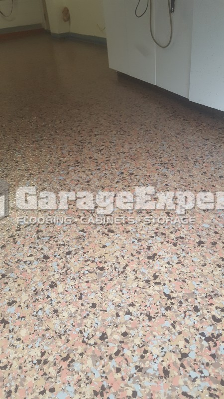 Floor Coating Removal And New Terrazzo Epoxy Flooring In