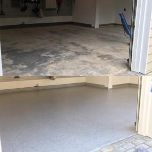 1/4 Lanai Grey Flaked floor