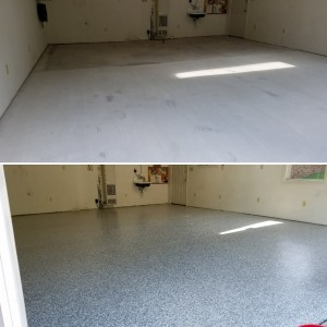 Epoxy Garage Floor Coating Installed in Sunderland