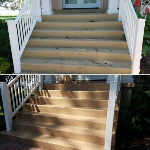 Epoxy coating on concrete steps in Anne Arundel County
