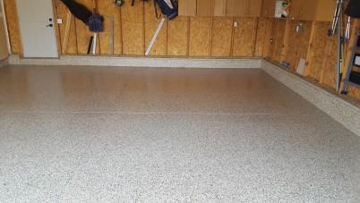 Cappuccino Flaked Floor in Helena, Montana