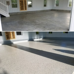Epoxy Garage Flooring installed in Calvert County, MD