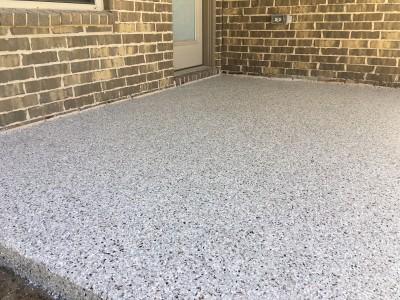 Epoxy Flooring System for Back Patio - Cross Creek Ranch (Fulshear, TX)