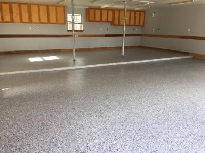 Garage Epoxy & Flake Flooring System - Waterside Estates (Richmond, TX)