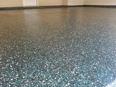 Epoxy Flooring installed in garage in Southlake, TX